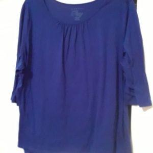 Women's plus  size 4x blue top